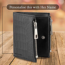 Black Zipper Wallet Pouch: Personalised Handbags and Wallets