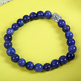 Blue Jade Bracelet Rakhi: Send Bracelet Rakhi