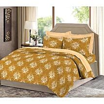Bombay Dyeing Yellow Cotton Double Bed Sheet: Home Decor Gifts Ideas