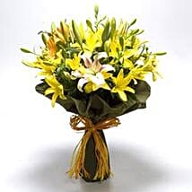 Bouquet Of Mixed Asiatic Lilies: Send Flowers to Kota