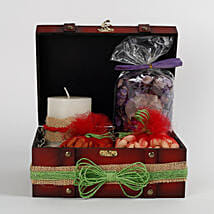 Box of Candles With Dry Fruits & Potpourri: Guaranteed Diwali Gifts Delivery