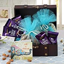 Box Of Chocolates N Dry Fruits: Bhai Dooj Gifts Faridabad
