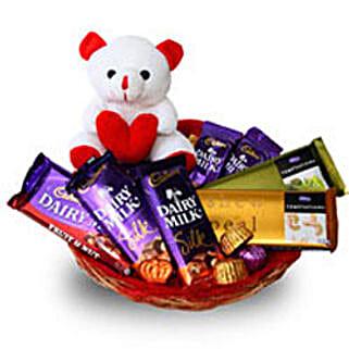 Branded Chocolate Basket: Send Soft toys to Bengaluru