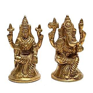 Brass Lakshmi Ganesha Idol: Send Diwali Gifts to Gurgaon