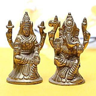 Brass Lakshmi Ganesha: Laxmi Ganesha Idol Gifts