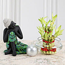 Buddha With Lucky Bamboo: Send Lucky Bamboo for Anniversary