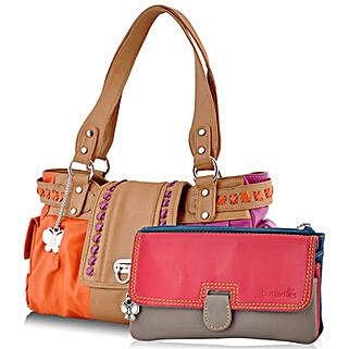 Butterflies Multicolor Handbag Combo: Handbag Gifts