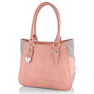 Butterflies Trendy Peach Handbag: Handbags and Wallets