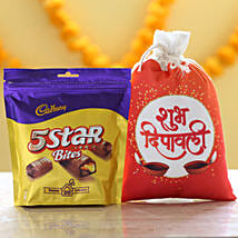 Cadbury 5 Star Pack & Deepavali Gunny Bag: Diwali Chocolates