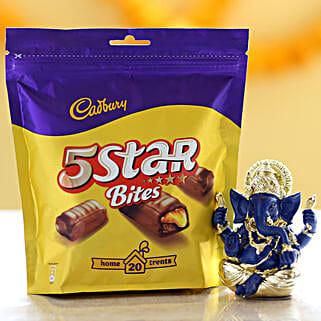 Cadbury 5 Star Pack & Ganesha Idol: Cadbury Chocolates