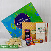 Cadbury Chocolate And Set Of 2 Rakhi: Send Rakhi With Sweets to Gurgaon