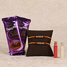 Cadbury Silk And Rakhi Combo: Rakhi to Bundi