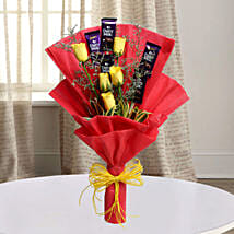 Cadbury With Rose: Mothers Day Chocolate Bouquet