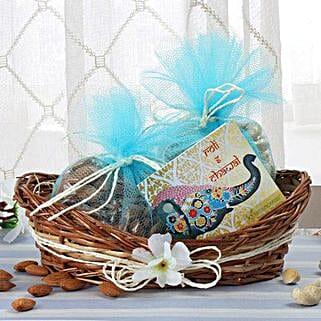 Cane Basket Of Dry Fruits: Bhai Dooj Gifts Jodhpur