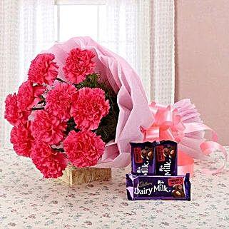 Carnation Temptation: Send Flowers to Mathura