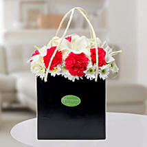 Carnations N Asiatic Lilies Arrangement: Send Flowers to Chandigarh
