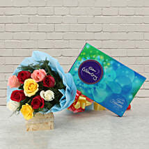 Celebrations with Roses: Friendship Day - Flowers & Chocolates