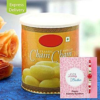 Cham Cham with Rakhi: Rakhi With Sweets Bhopal