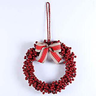 Charming Christmas Wreath: Christmas Gifts Hyderabad