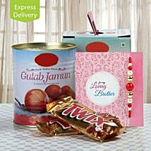 Chocolate And Gulab Jamun Love: Send Rakhi With Sweets to Rajkot