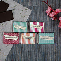 Chocolate Bars For Sister- 5 Pieces: Personalised Chocolates for Birthday
