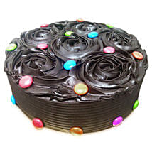 Chocolate Flower Cake: Wedding Chocolate Cakes