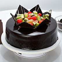 Chocolate Fruit Gateau: New Year Cakes Dehradun