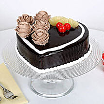 Chocolate Heart Cake: Send Heart Shaped Cakes