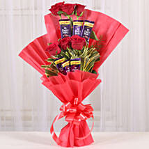 Chocolate Rose Bouquet: Valentines Flowers Vapi