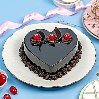Chocolate Truffle Heart Cake: