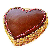 Chocolaty Heart Cake: Heart Shaped Cakes to Bengaluru