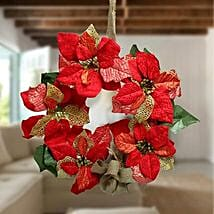 Christmas Carnival Wreath: Artificial Flowers