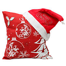 Christmas Cushion and Cap: Send Gifts to Seraikela Kharsawan