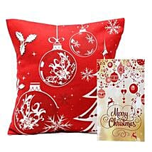 Christmas Cushion and Card: Gift Delivery in Seraikela Kharsawan
