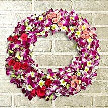 Circle of Life Wreath: Flowers to Puducherry