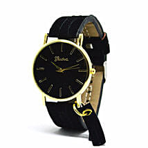 Classic Black Fringe Watch For Women: Women's Watches
