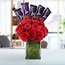 Classic Choco Flower Arrangement: Send Flowers to Haldwani