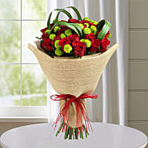 Classic Red Roses Hand Tied Bouquet: New Arrival Flowers