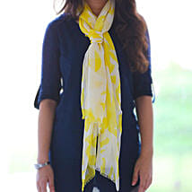 Classic Yellow n White Stole: Apparel Gifts
