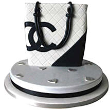 Classy Chanel Bag Cake: Valentines Day Designer Cakes
