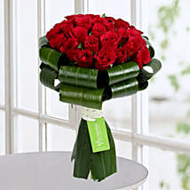 Classy Red Roses Bunch: Designer Bouquet