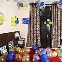 Colorful Balloons Decor Silver Yellow & Blue: Experiential Gifts