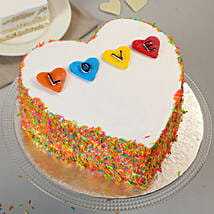 Colourful Love Cake: Heart Shaped Cakes for Valentine