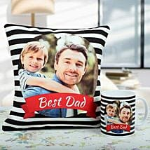 Comfortable Combo For Dad: Fathers Day Personalised Cushions