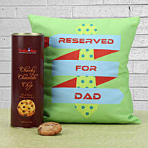 Cookies Delight: Fathers Day Cushion