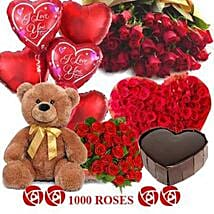 Crazy in Love: Flowers & Teddy Bears for Anniversary