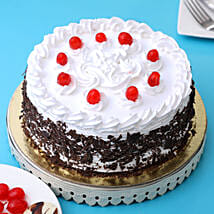 Cream & Cherry Black Forest Cake: Send New Year Cakes to Clients