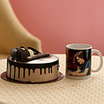 Creamy Chocolate Cake With Picture Mug: Same Day Personalised Gifts
