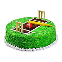 Cricket Pitch Cake: Designer Cakes Kolkata