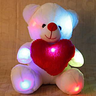 Cuddly White Teddy Bear: New Baby